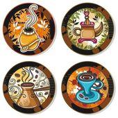 Coffee, and tea design elements — Stock Vector