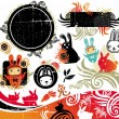 Oriental Rabbit design elements - Image vectorielle
