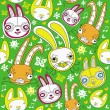 Royalty-Free Stock Imagen vectorial: Rabbits background