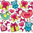 Valentines day  background. - Stockvectorbeeld