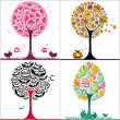 Stock Photo: Trees set