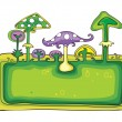 Stock Vector: Mushrooms banner.