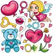 Royalty-Free Stock Vector Image: Decorative valentine elements part 2