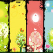 Vertical Easter banners with copy-space. — Vector de stock #5063681
