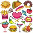 Stock Vector: Food icons 1