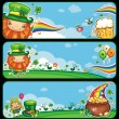 Royalty-Free Stock Vector Image: St Patrick\'s Day cartoon banners