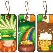 Price tags for the St. Patricks Day  2 — Stock Vector
