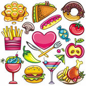 Food icons 1 — Stock Vector