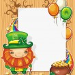 Stock Vector: St Patrick  Day cartoon frame