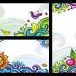 Decorative floral banners 1 — Stock Vector