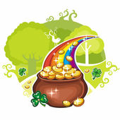 St. Patrick's Day greeting card — Stockvector