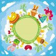 Stock Vector: Easter planet
