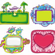 Vector set of cute frames 3 - Stock Vector