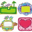 图库矢量图片: Vector set of cute frames 3