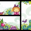 Decorative floral banners 2 - Stock Vector