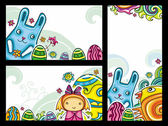 Easter banners 2 — Stock Vector