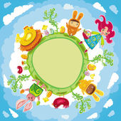 Easter planet — Stock Vector