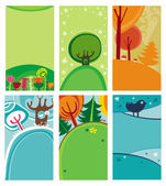 Natural decorative compositions — Stock Vector