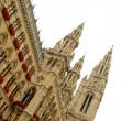 Gothic Tower of Rathaus in Vienna — Stock Photo