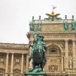ウィーンの図書館の近くの馬 — ストック写真
