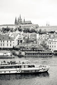 Prague in black and white — Stock Photo