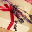Lavender and nice wrapped present — Stock Photo #5130443