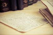 старый возрасте письмо — Стоковое фото