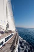 Sailing boat in the sea — Stock Photo
