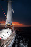 Sailing boat at sunset — Foto de Stock