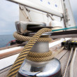 Постер, плакат: Winch with rope on sailing boat