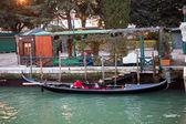 Servizio gondole istasyonu venedik'te gondol — Stok fotoğraf
