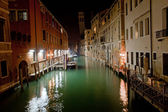 Venice channel at night — Stock Photo