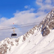 Gondola on cable on mountain resort — Stock Photo
