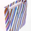 Striped empty paper bag — Stockfoto