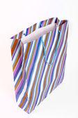 Striped empty paper bag — Stock Photo