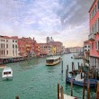 Grand channel in Venice with sailing boats — Stock Photo