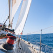 Yacht sailing in the sea — Stock Photo #5324630