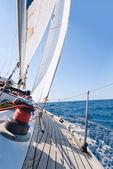 Yacht sailing in the sea — Foto de Stock