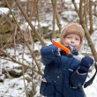 Small boy with ice axe — Stock Photo #5371460