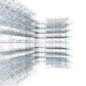 Office building blueprint — Stock Photo