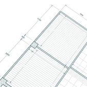 Blueprint on white — Stock Photo