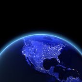 USA at night — Stock Photo