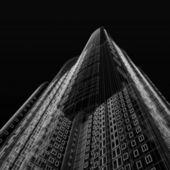 Skyscraper blueprint — Stock Photo