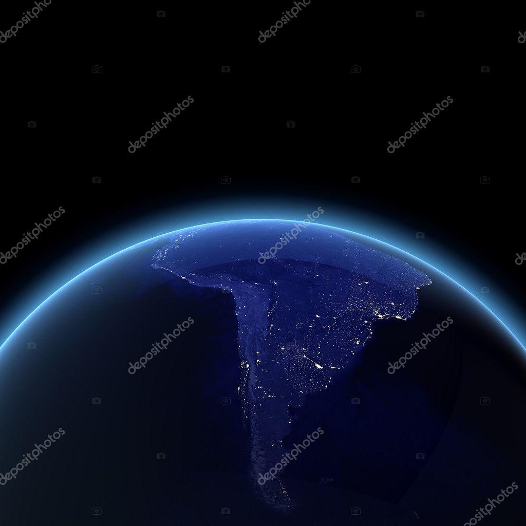 South America night render — Stock Photo © 1xpert #4299616
