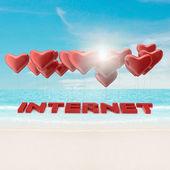 Globos y el texto de internet — Foto de Stock