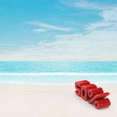 50% discount on beach — Stock Photo