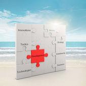Development puzzle concept — Stock Photo