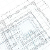 Architektur blueprint — Stockfoto