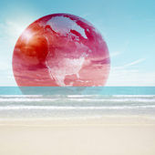 Futuristische aarde concept — Stockfoto
