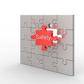 Safety puzzle — Stock Photo